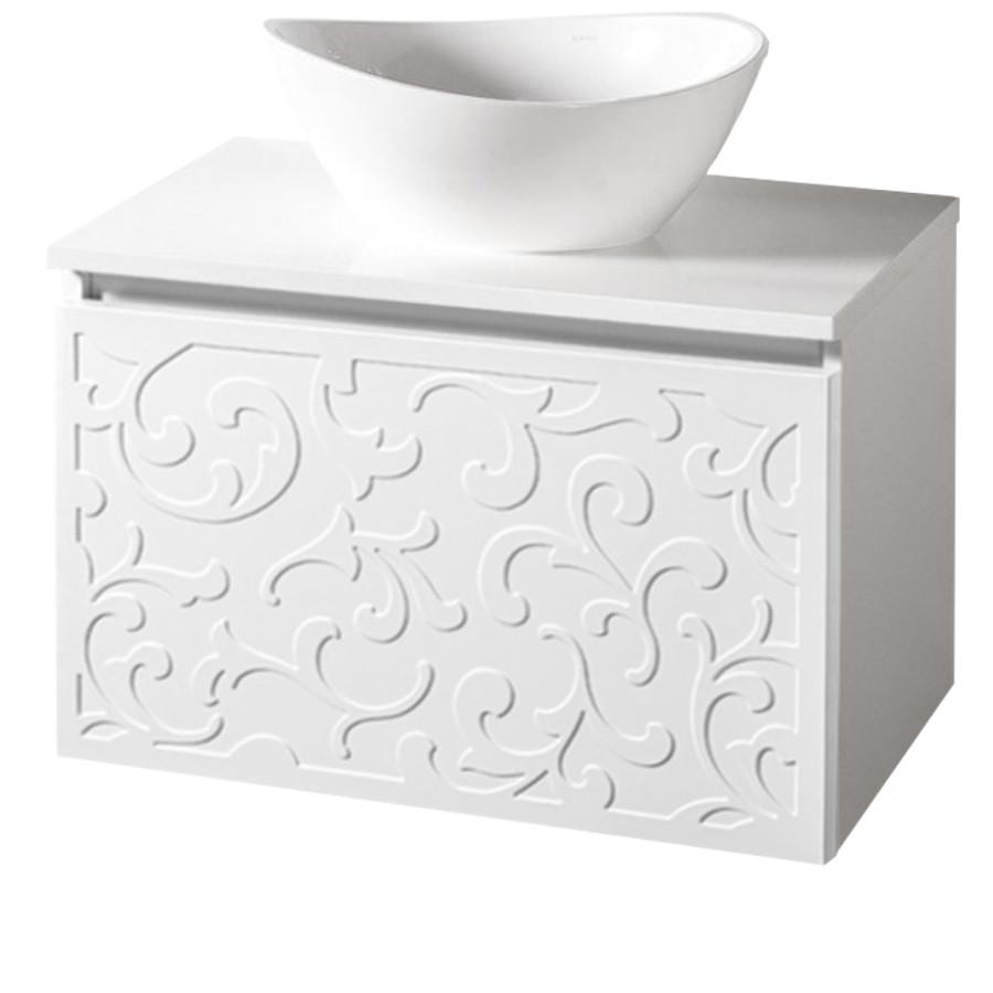 Szafka łazienkowa Sanitti Floro 70 cm z blatem i umywalką Tre