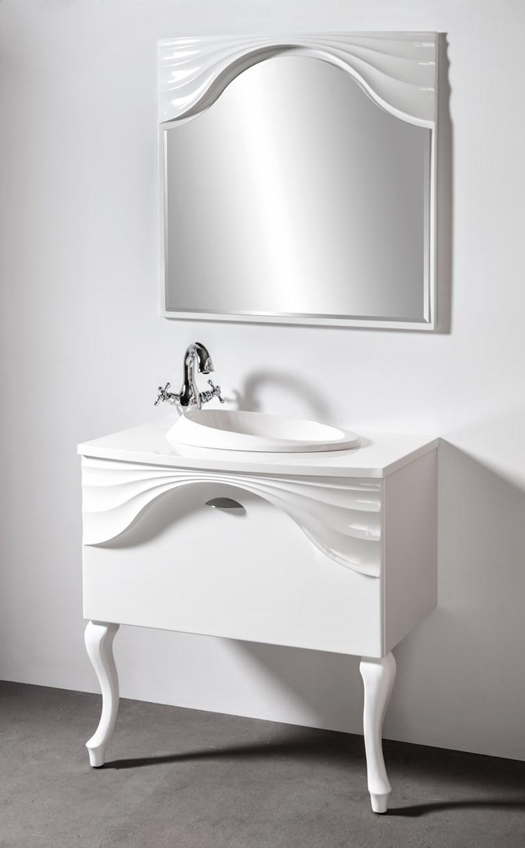 Szafka łazienkowa Sanitti Asso AS-81/48 wisząca z blatem i nogami