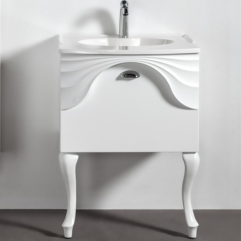 Szafka łazienkowa Sanitti Asso 60 wisząca pod umywalkę, z nóżkami retro