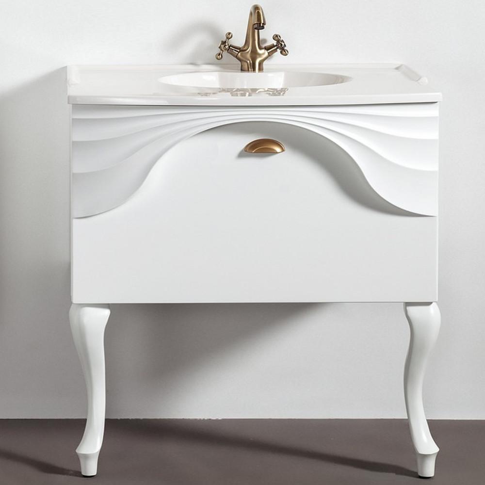 Szafka łazienkowa Sanitti Asso 80 cm wisząca pod umywalkę z nóżkami
