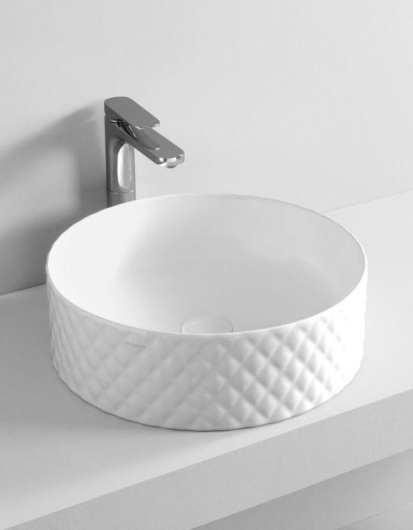 Umywalka nablatowa ceramiczna Sanitti Art Rombo