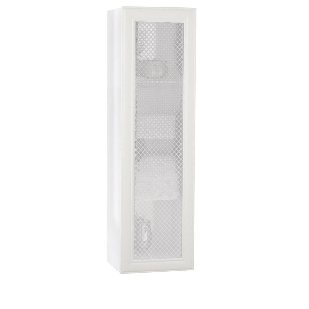 Regał łazienkowy Sanitti Gamma GRB-1/3 białe ramki front szyba w białą kratkę