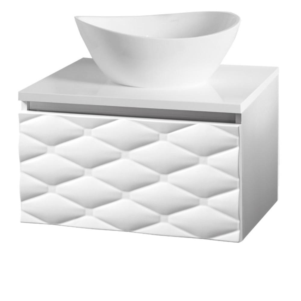 Szafka łazienkowa Sanitti Lira 60 cm biała z blatem
