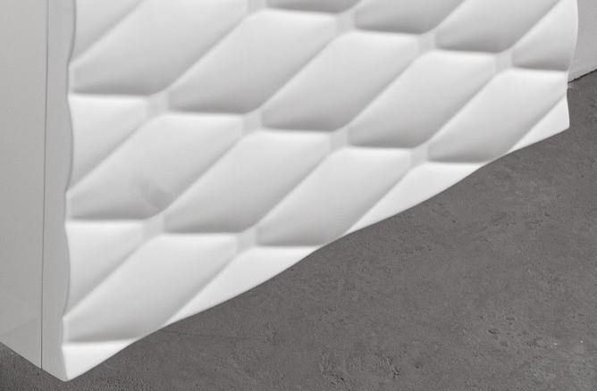 Front biały szafki Sanitti Lira bez kryształków