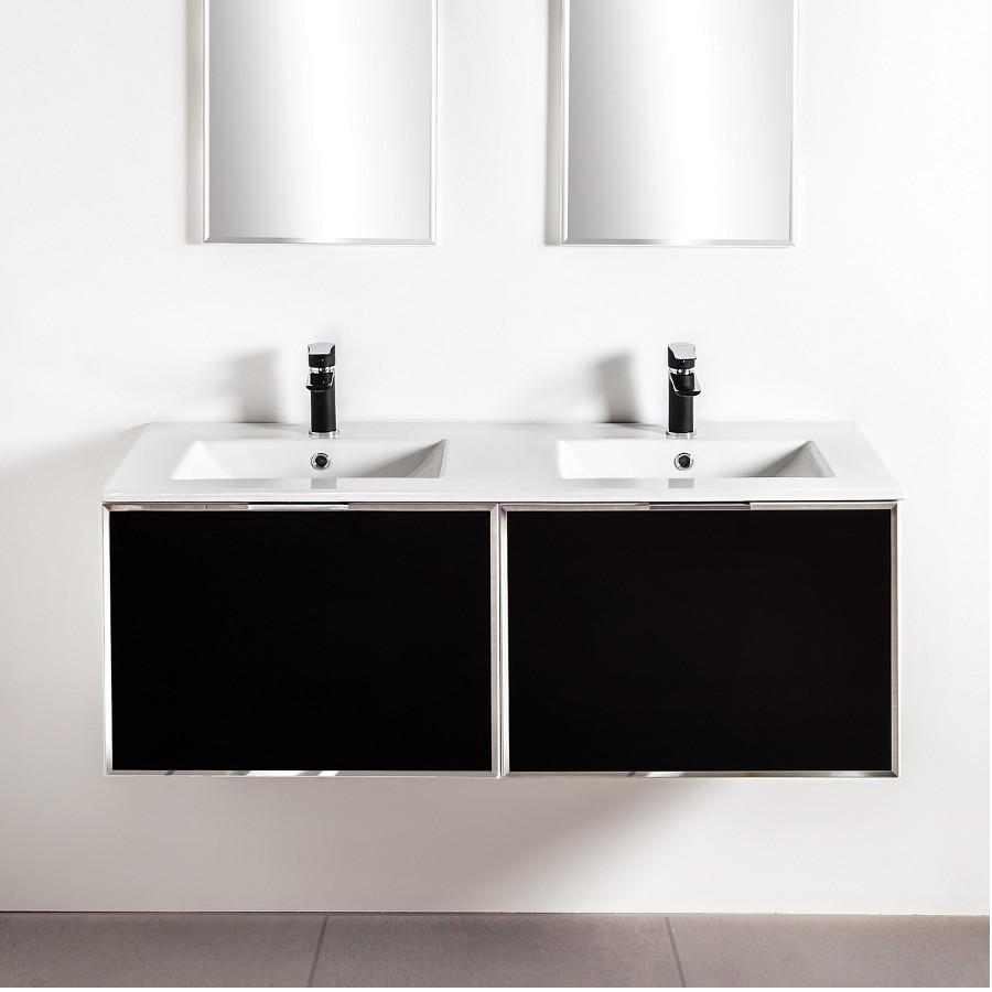 Szafki łazienkowe Sanitti Delta 2 x 60 cm kolor frontu czarny