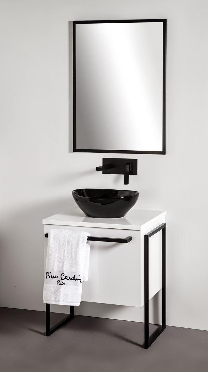 Szafka łazienkowa Sanitti Trendy TS-60/1 ze stelażem aluminiowym niskim