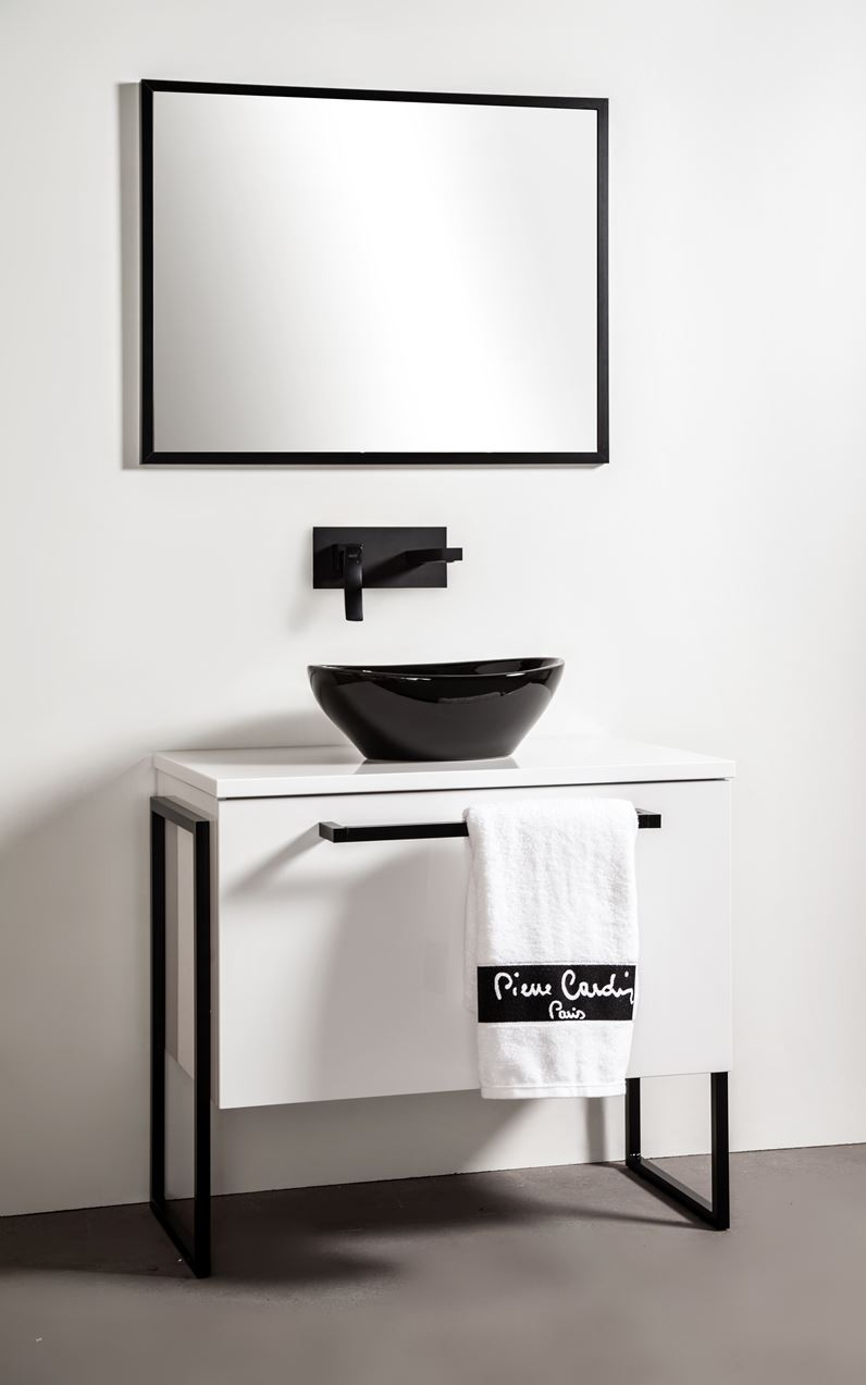 Szafka łazienkowa Sanitti Trendy TS-80/1 ze stelażem aluminiowym niskim
