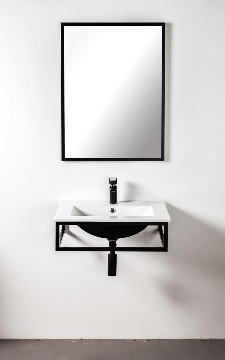 Konsola aluminiowa pod blat lub umywalkę 60 cm