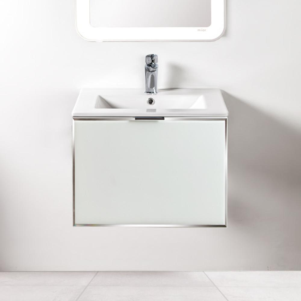 Szafka łazienkowa Sanitti Delta kolor frontu biały 60 cm z umywalką UMW-60