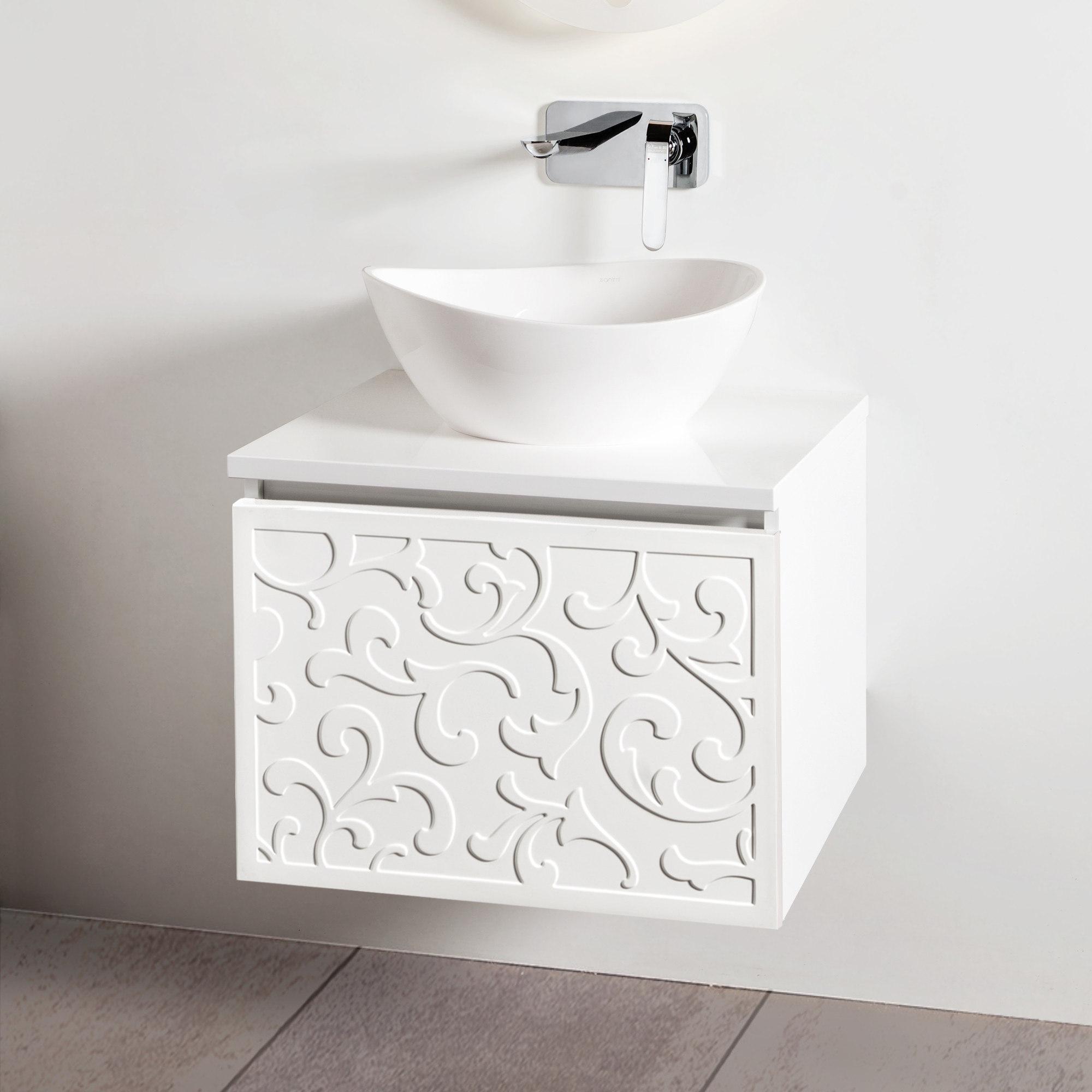 Szafka łazienkowa Sanitti Floro 60 cm z blatem i umywalką TRE