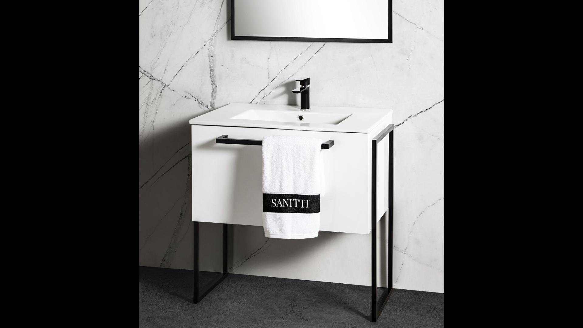 Szafka łazienkowa Sanitti Trendy TS-80/2 ze stelażem aluminiowym wysokim