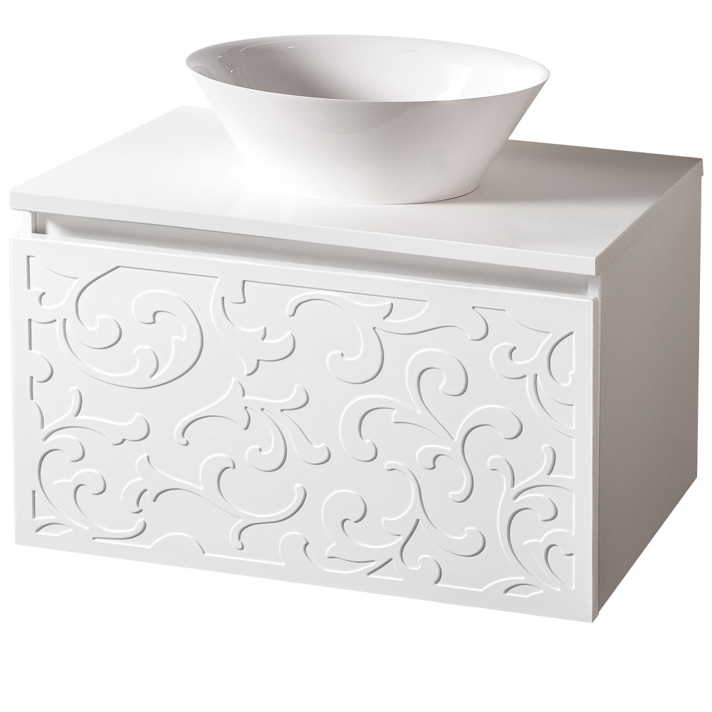 Szafka łazienkowa Sanitti Floro 80 cm z blatem i umywalką nablatową