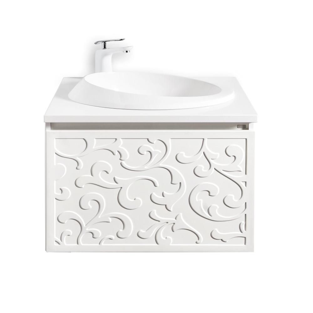 Szafka łazienkowa Sanitti Floro 60 cm z blatem i umywalką OTTO
