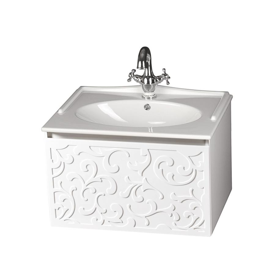 Szafka łazienkowa Sanitti Floro 70 cm z umywalką ceramiczną GAMMA-70