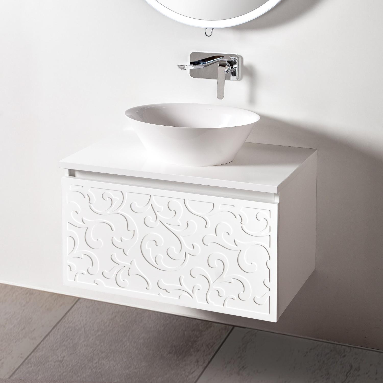 Szafka łazienkowa Sanitti Floro 80 cm z blatem i umywalką SEI